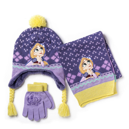 Disney Princess Tangle Hat, Scarf and Glove Set - 3-piece