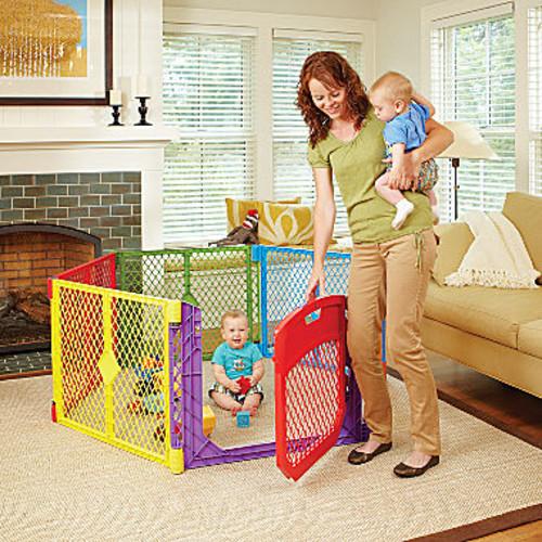 North States Superyard Colorplay Ultimate Baby Gate