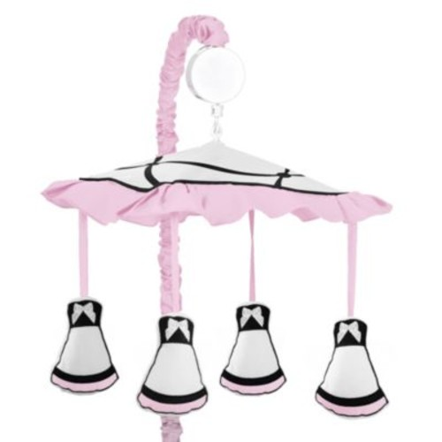 Sweet Jojo Designs Princess Musical Mobile in Black/White/Pink