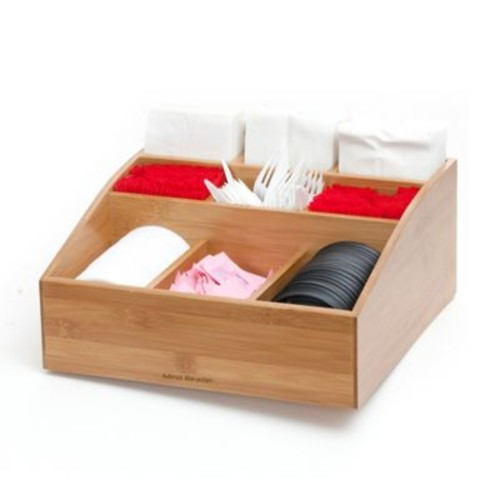 Mind Reader 9-Compartment Condiment Organizer in Wood