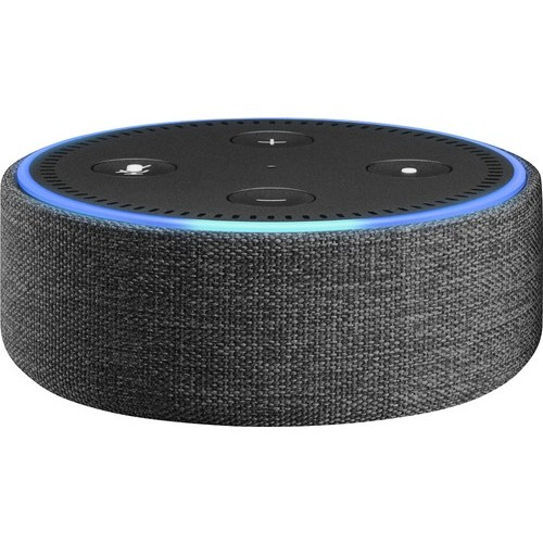 Amazon - Case for Amazon Echo Dot (2nd Generation) - Charcoal