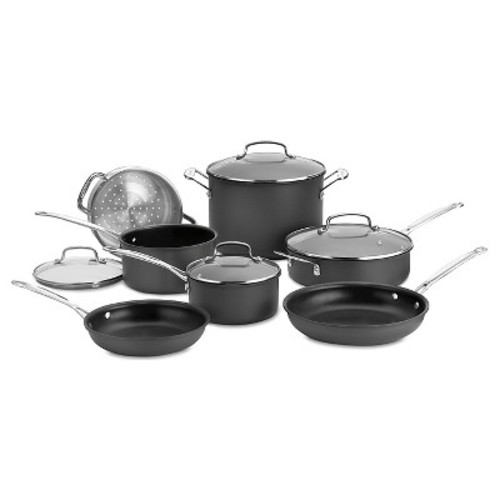Cuisinart Chef's Classic Nonstick Hard Anodized 11 Piece Cookware Set w/cover - 66-11
