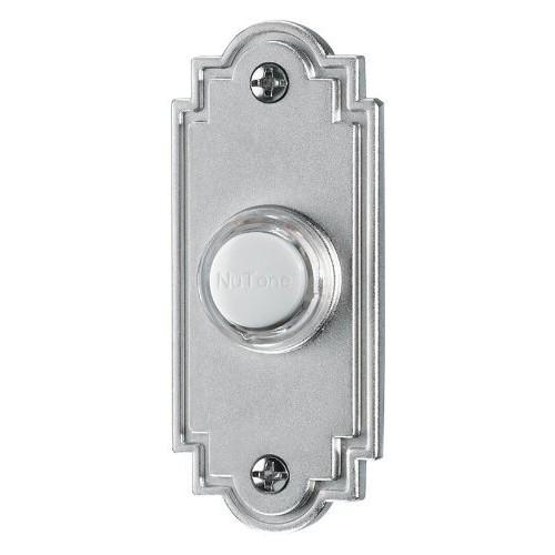 NuTone PB15LSN Wired Lighted Door Chime Push Button, Satin Nickel [Satin Nickel]