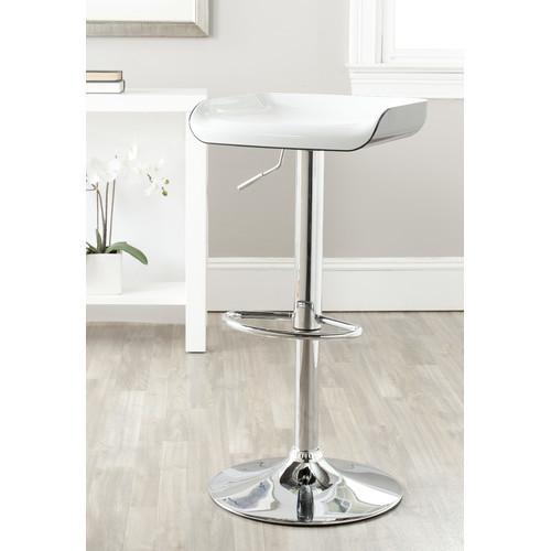 Safavieh - Rameka Adjustable Height Swivel Bar Stool with Cushion - Multi