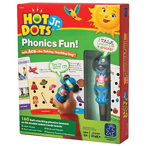 Educational Insights Hot Dots Jr. Phonics Fun! Set with Ace Pen