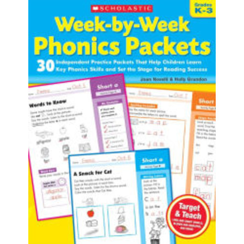 Week-by-Week Phonics Packets: 30 Independent Practice Packets That Help Children Learn Key Phonics Skills and Set the Stage for Reading Success (PagePerfect NOOK Book)
