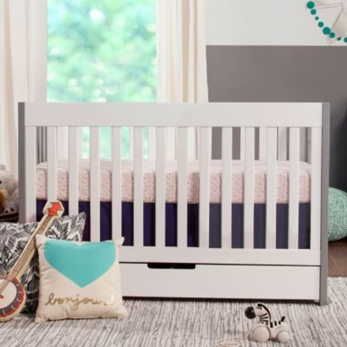 Mercer Grey and White 3 in 1 Convertible Crib by Babyletto