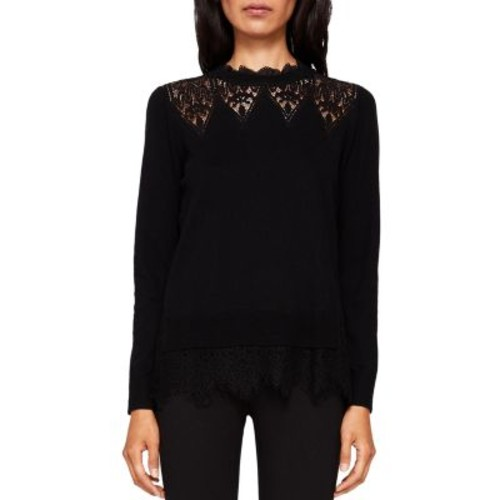 TED BAKER Aarun Lace-Trim Sweater