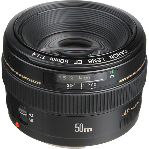 Canon EF 50mm f/1.4 USM Standard & Medium Telephoto Lens for Canon SLR Camera...