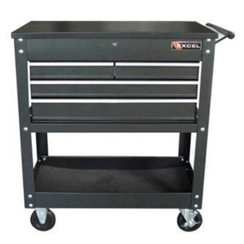 Excel TC400 Four Drawer Tool Cart, Black