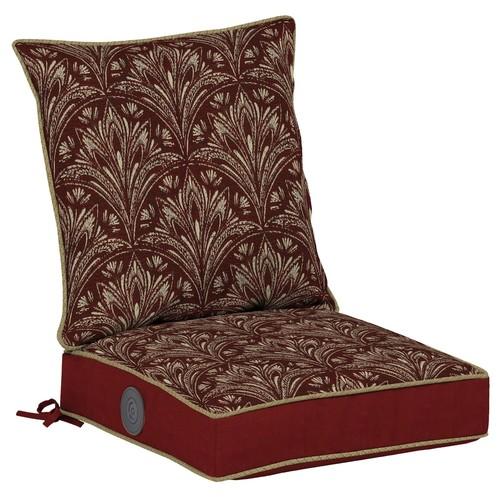 Bombay Outdoors Royal Zanzibar Medallion Adjustable Comfort Reversible Dining Chair Cushion Set