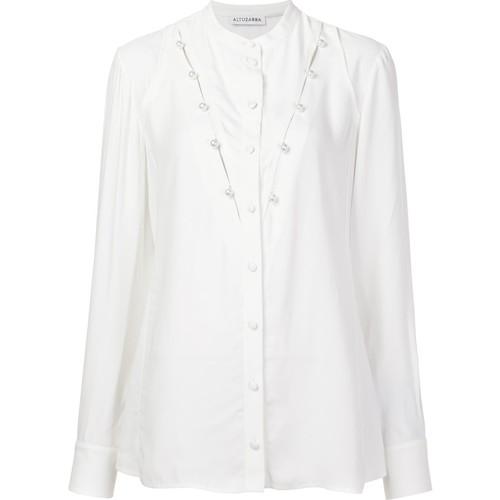 ALTUZARRA Pearl Embellished Blouse