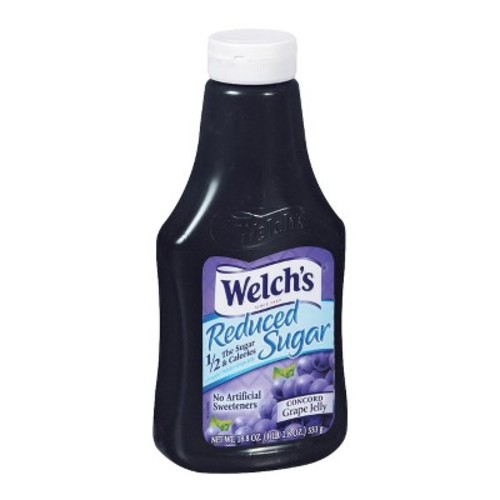 Welch's Reduced Sugar Squeezable Concord Grape Jelly - 17.01 fl oz