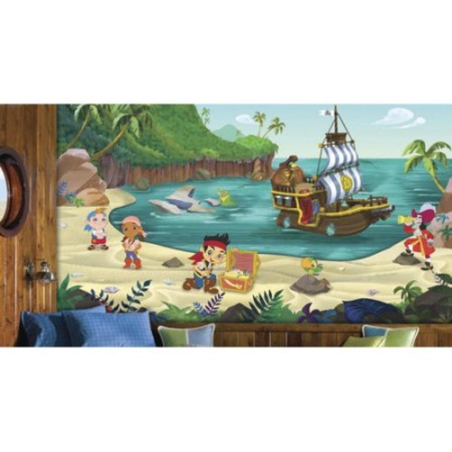 Room Mates Jake and The Never Land Pirates Prepasted Wall Mural