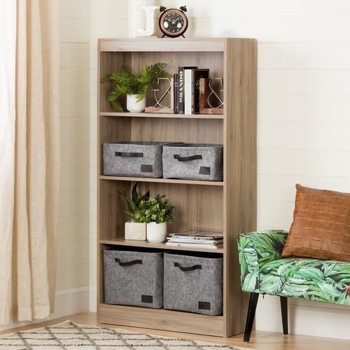 South Shore Furniture Bookshelves & Bookcases South Shore Axess 4-shelf Bookcase [Finish : Oak Finish]