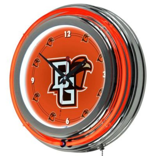 Trademark Global 14 in. Bowling Green Round Neon Wall Clock
