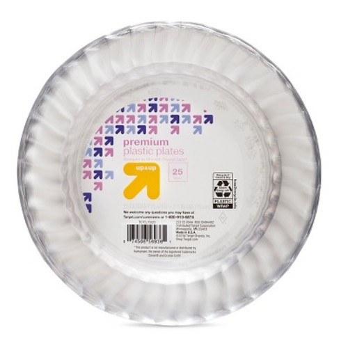 Clear Dessert Plates 7.50 in 25 ct - up & up