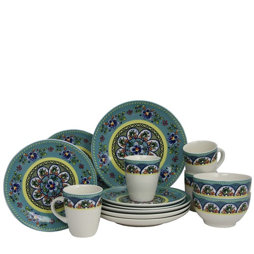 Elama Santa Fe Springs 16-pc Stoneware Dinnerware Set