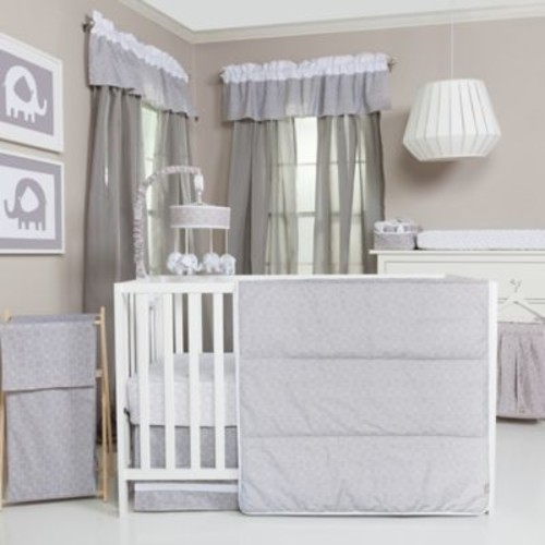 Trend Lab Grey and White Circles 3-Piece Crib Bedding Set