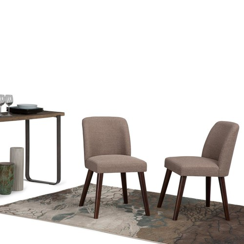 Simpli Home Emery Fawn Brown Dining Chair (Set of 2)