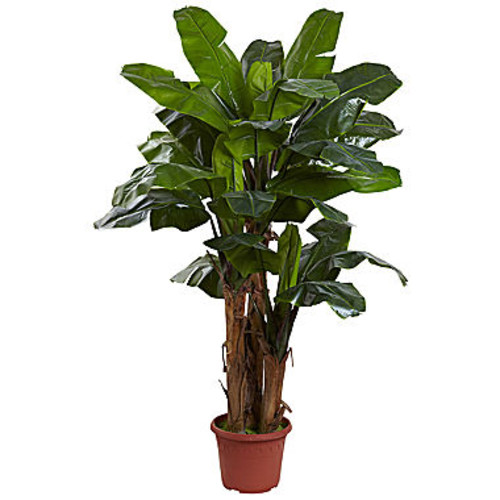 Nearly Natural 7-ft. Giant Triple Stalk Banana Tree Uv Resistant Indoor/Outdoor