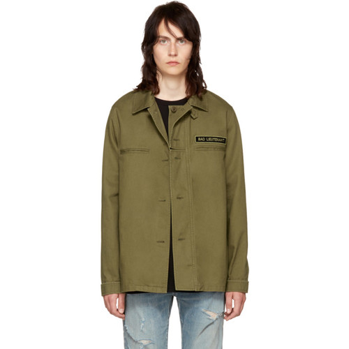 SAINT LAURENT Khaki Military Jacket