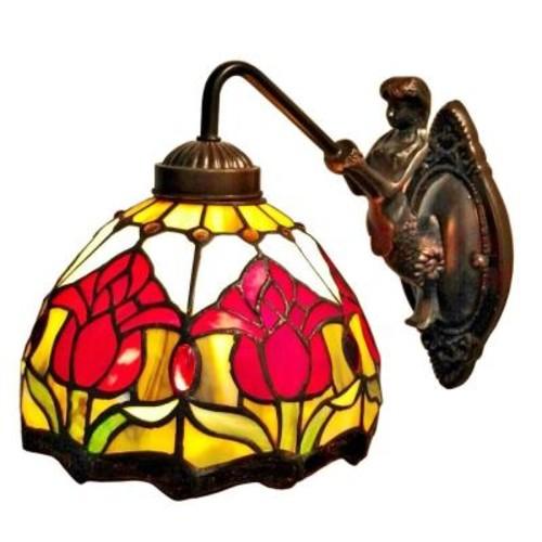 Amora Lighting Tiffany Style Wall Lamp
