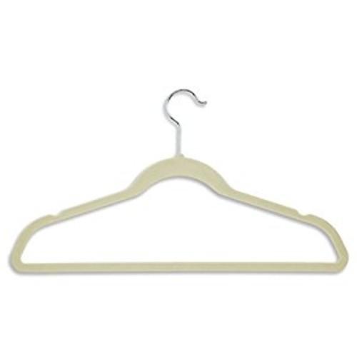 Honey-Can-Do Ultra Thin Non-Slip Velvet Hangers, 50-Pack, Ivory [Ivory, Velvet Suit Hangers: 50-Pack]