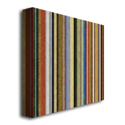 Comfortable Stripes V by Michelle Calkins, 18x18-Inch Canvas Wall Art [18 by 18-Inch]