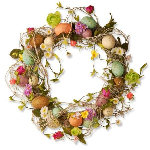 National Tree Company 18 in. Garden Accents Easter Egg Wreath