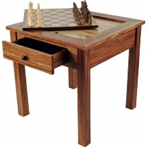Trademark Games Wood 3 in 1 Chess Backgammon Table, Ages 7+