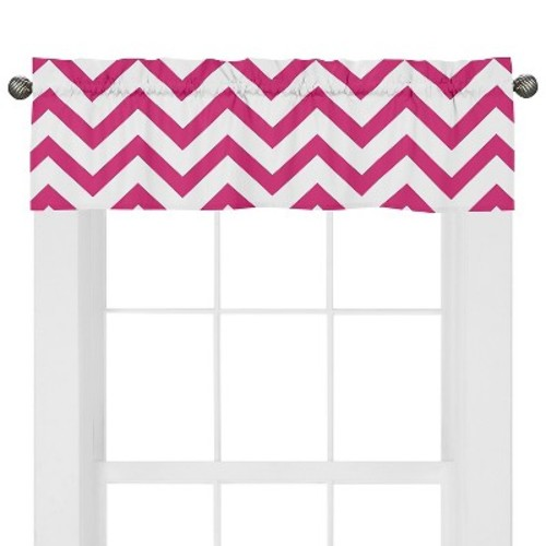 Sweet Jojo Designs Pink & White Chevron Window Valance - Pink