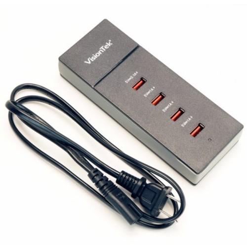 VisionTek Products VisionTek High Power USB Four Port Charging Hub (900728)