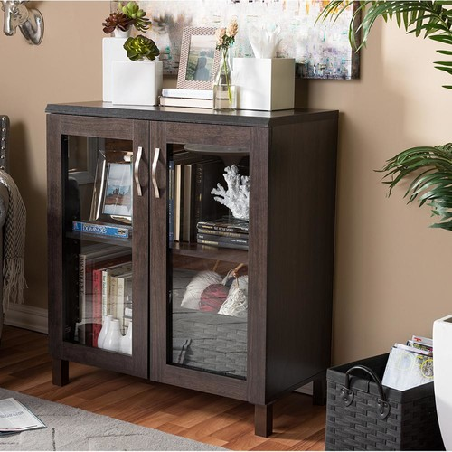 Baxton Studio Sintra Dark Brown Storage Cabinet