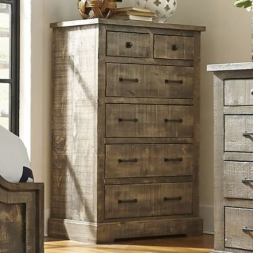 Meadow 5-Drawer Chest in Weathered Grey