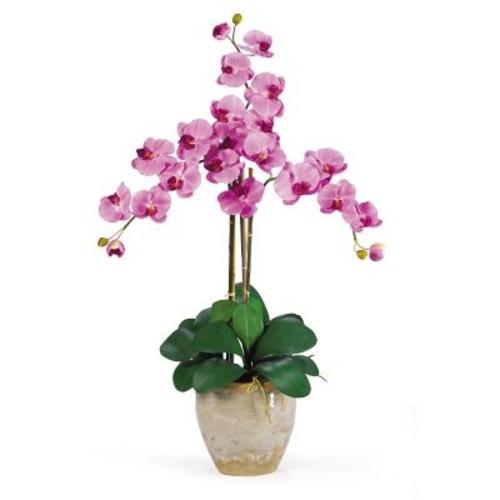 Nearly Natural 1017-MA Triple Phalaenopsis Floral Arrangements, Mauve