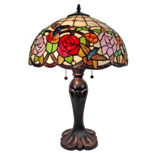 Amora Lighting 25 in. Tiffany Style Table Lamp