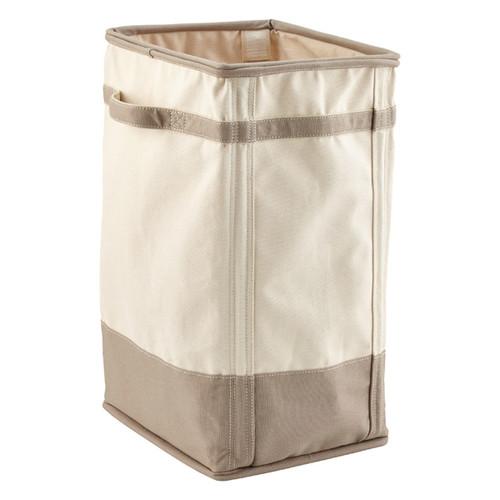 Natural & Grey Canvas Laundry Hamper