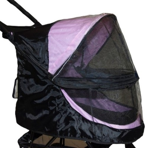 Pet Gear Weather Cover for No-Zip Happy Trails Stroller - Black