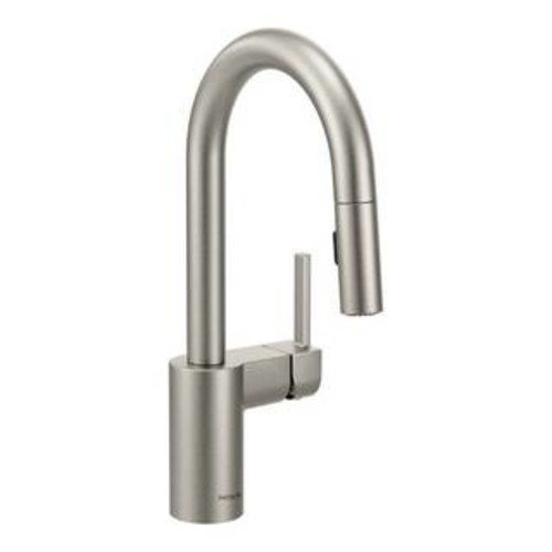 Dawn Brushed Nickel Single-lever Pull-out Spray Sink Mixer