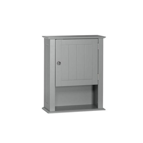 RiverRidge Home Ashland 16-1/2 in. W x 20-2/5 in. H x 7 in. D Bathroom Storage Wall Cabinet in Gray