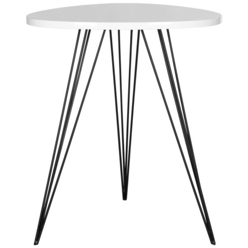 Safavieh Wolcott White and Black Side Table