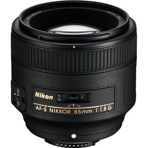 Nikon AF FX NIKKOR 85mm f/1.8G Fixed Lens with Auto Focus for Nikon DSLR Cameras [Lens Only]