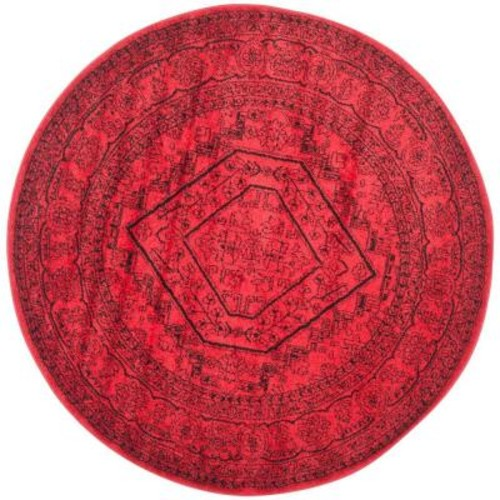 Safavieh Adirondack Red/Black 8 ft. x 8 ft. Round Area Rug