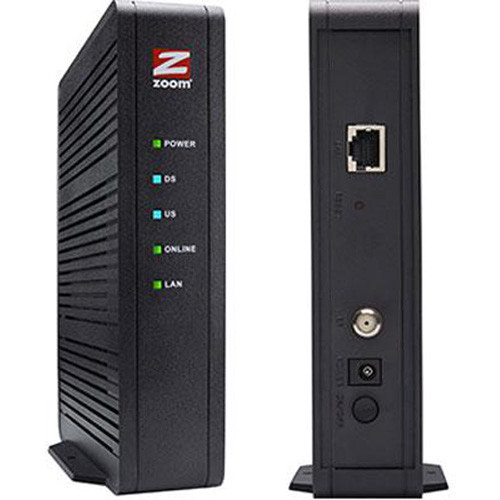 Zoom DOCSIS 3.0 16x4 686 Mbps Cable Modem, Model 5370