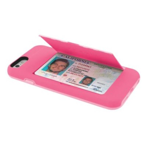 Incipio STOWAWAY Credit Card Case with Integrated Stand for iPhone 6/6s, Pink (IPH1185PNK)