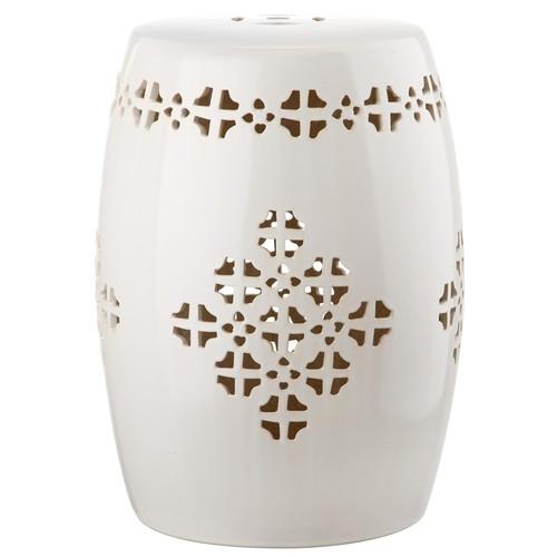 Safavieh Quatrefoil Glazed Ceramic Garden Stool