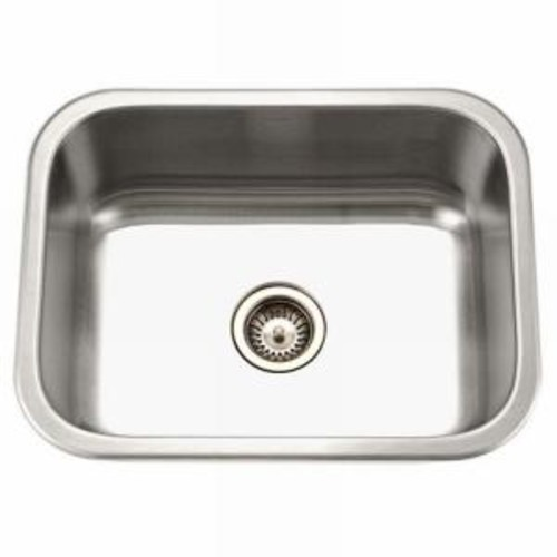 HOUZER Medallion Series Undermount Stainless Steel 23 in. Single Bowl Kitchen Sink