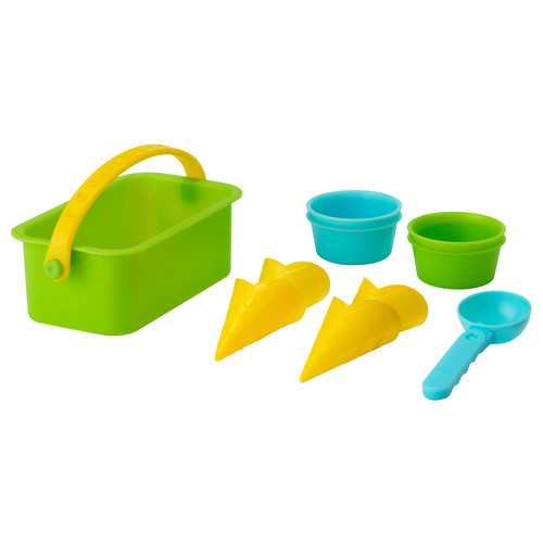 SANDIG 10-piece toy ice cream set