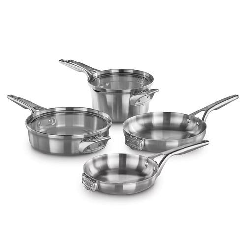 Calphalon Premier Space-Saving 6-pc. Stainless Steel Cookware Set